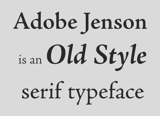 Font Serif Old-style